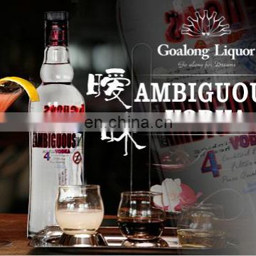 Chinese manufacturer wholesale 700ml vodka with private label