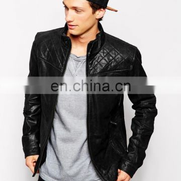 New Style Hollywood Look Quilted Biker Leather Jacket