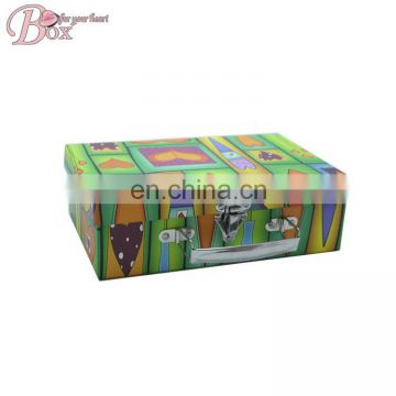 Printed Luggage Suitcase Papaer Trunk Box with Handle