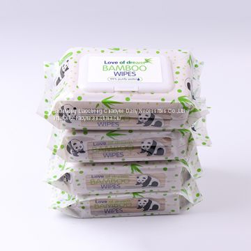 Manufacturer Bamboo Fiber Natural Organic Biodegradable Wet Wipes