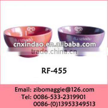 Disposable Round Ceramic Promotion Soup Rice Bowl with Custom Color Made In China