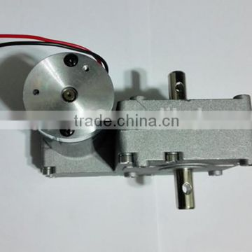 Low speed 24V Electric Motors Small DC Worm Gear Motor DC