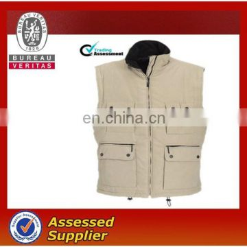 Winter work vest with multi pockets