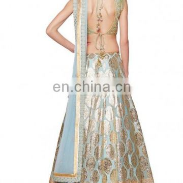 Powder Blue Lengha with Dori Work