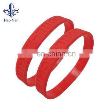 high quantity custom silicon wristband for promotional item