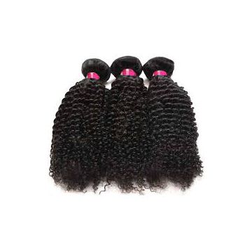 Malaysian Kinky Straight Indian Double Wefts  Curly Human Hair