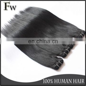 Golden supplier european hair extensions no chemical processed silky straight hair weft