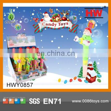 Best Selling Funny Plastic Candy Toys Christmas Fan Toy(12pcs /Display box)
