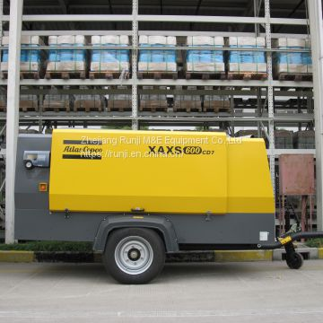 atlas portable screw air compressor XAXS600Cd