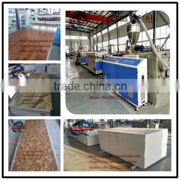 extruder boad production advertising board processing line = construction formwork machinery plastic furniture making machine