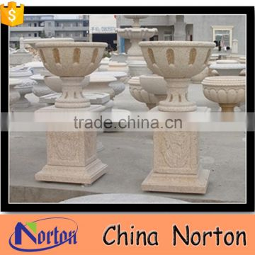 natural marble headstone flower pot for outdoor NTMF- FP202X