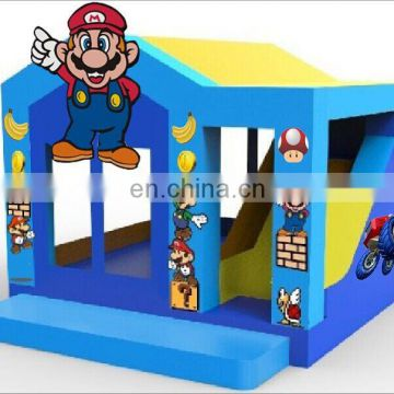 Manufacturer super mario bouncy castle with slide, mario brother inflatable bouncy slide combo