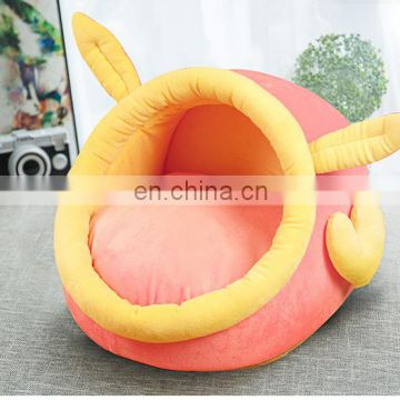 Cute long plush cotton samll cave pet bed dog house