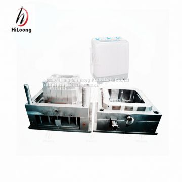 steel plastic injection Molding washing machine double tube shell mould