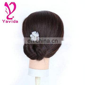 human hair training head for hairdressers Female Mannequin Head mannequin price hair products With Clamp professional