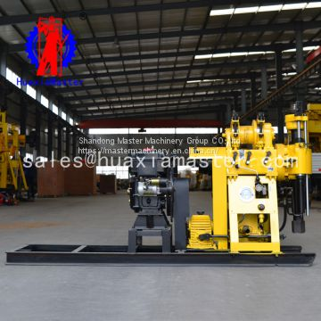 HZ-200Y diesel Engine Hydraulic Water Well Drilling Rig Rotary Diamond Core Machine For Sale