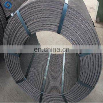 China 12.7mm 15.2mm 13.2mm Hollow core steel cable/ wire rope / PC Strand