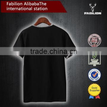 Alibaba website wholesale men clothing with pocket,100% cotton black blank casual t-shirt