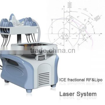 lipo laser slimming machine with 8 lipo laser pads and one super skin rejuvenation handle