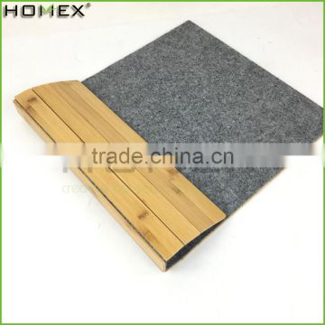 Bamboo Bath Floor Mat Non-Slip Bathtub Mat Homex-BSCI Factory