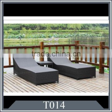 Hot sale outdoor Rattan lounge bed
