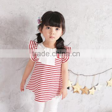 S17350a Summer High Quality Baby Girls 100 Cotton Blouse Of Blouses