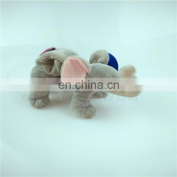 2017 dongguan manufacturer custom creative cute baby wrist plush toy elephant