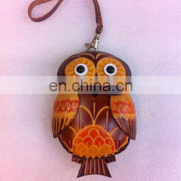 2015 Owl Genuine leather leather coin purse
