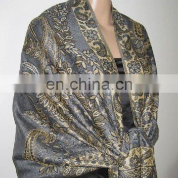 JDP-125_13#: scarf shawl with warm keeping triple layer weaving