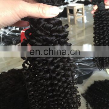 100% no tangle and shedding hair extension micro head kinky curly
