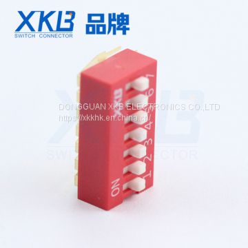 Various colors pitch 2.54mm vertical DIP SWITCH with good quality