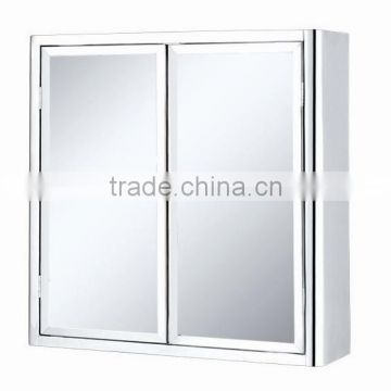 Stainless steel bathroom mirror cabinet 6008