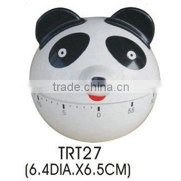 Plastic panda design 60 minutes countdown timer/mechanical timer