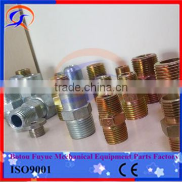 NPT JIC SAE BSP METRIC Carbon steel Hydraulic connector