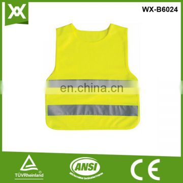 polyester 120Gsm class2 tape high visibility kids safety reflective jacket, kids safety reflective jacket