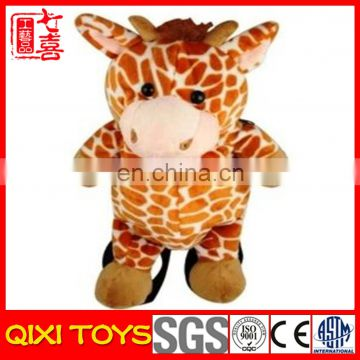stuffed plush cute animal giraffe plush backpack for child