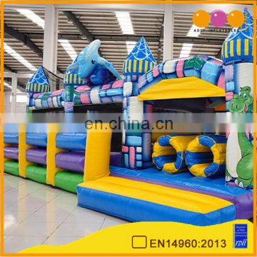 AOQI crazy cheap water horse inflatable fun city hot sell