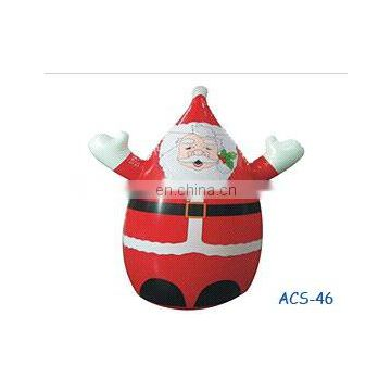 Inflatable Santa for advertising in Christmas