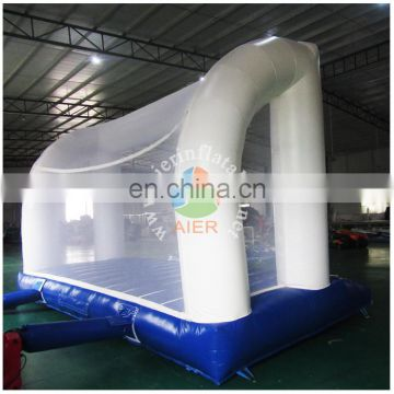 outdoor white inflatable soccer game for rental