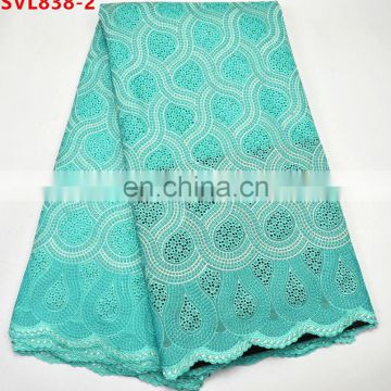 100% Cotton African Swiss Lace Fabric For Men