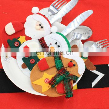 christmas snowman santa claus cutlery sets christmas cutlery holders