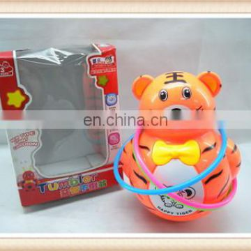 ring toss game, roly-poly plastic fun tiger tumbler toy