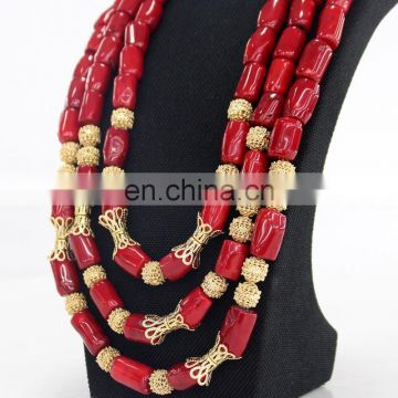 High quality afrian coral beads jewelry /handmade coral beads jewelry /nigerian italian coral beads