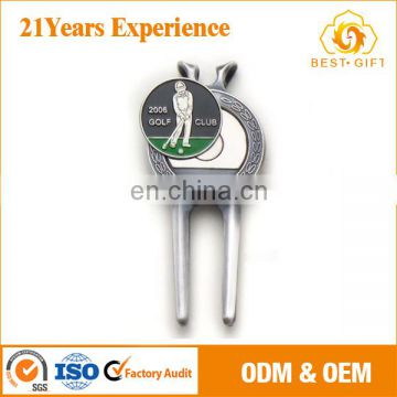 high quality eco-friendly golf repair tool with 3/4 ball marker set