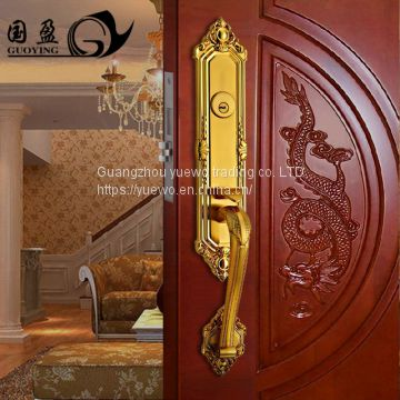 Door lock shuangla european-style lock anti-theft lock office door lock copper door mechanical lock guoyin villa wooden