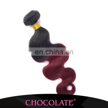 Ombre color 1B/99J China hair factory hengyuan hair Whosales Alibaba