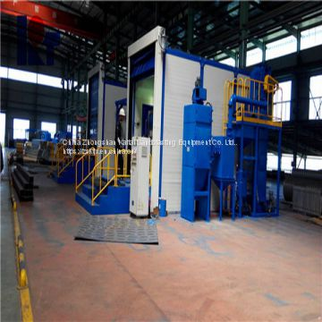 Wind recovery sand blasting room,Surface treatment for large workpiece
