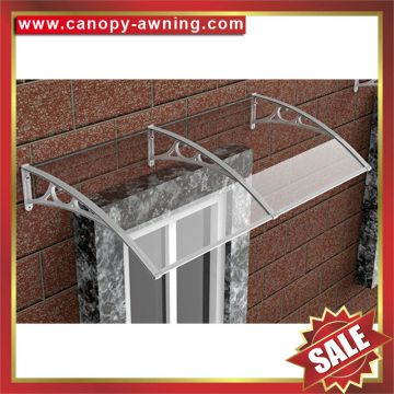 house door window aluminum diy alu pc polycarbonate awning canopy shelter canopies awnings cover shield with aluminum bracket support arms of House ... & house door window aluminum diy alu pc polycarbonate awning canopy ...