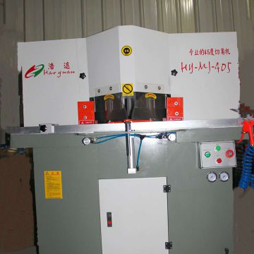 Double Head Cutting Machine Aluminium Fabrication Machinery 120mm