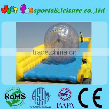 inflatable pvc ramp zorb ball